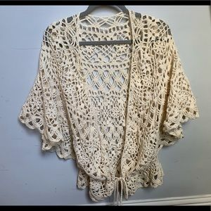Rico Crochet Lace Cotton Kimono Size M